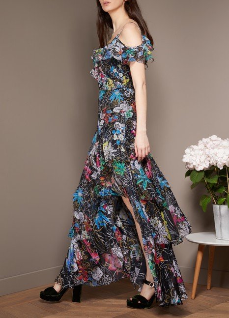 PETER PILOTTO Robe longue en soie Georgette