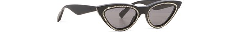 CELINECat eye acetate sunglasses with crystals and metal detail