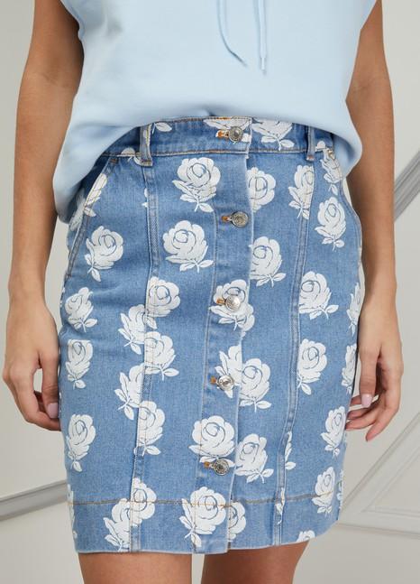 843a0da798 Women's Floral print denim skirt | Kenzo | 24S | 24S