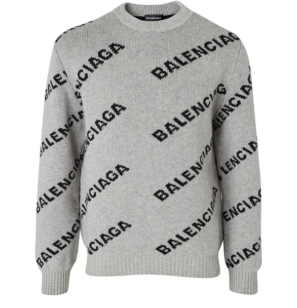 allover-logo-jumper by balenciaga