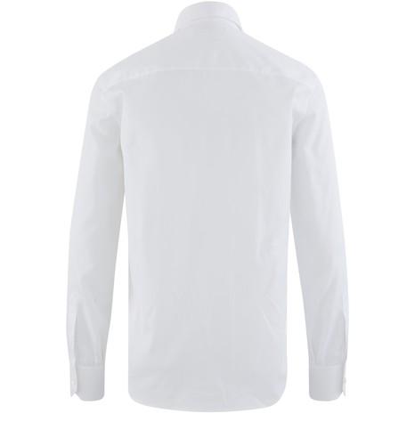 CELINEFrilled classic-collar cotton poplin shirt