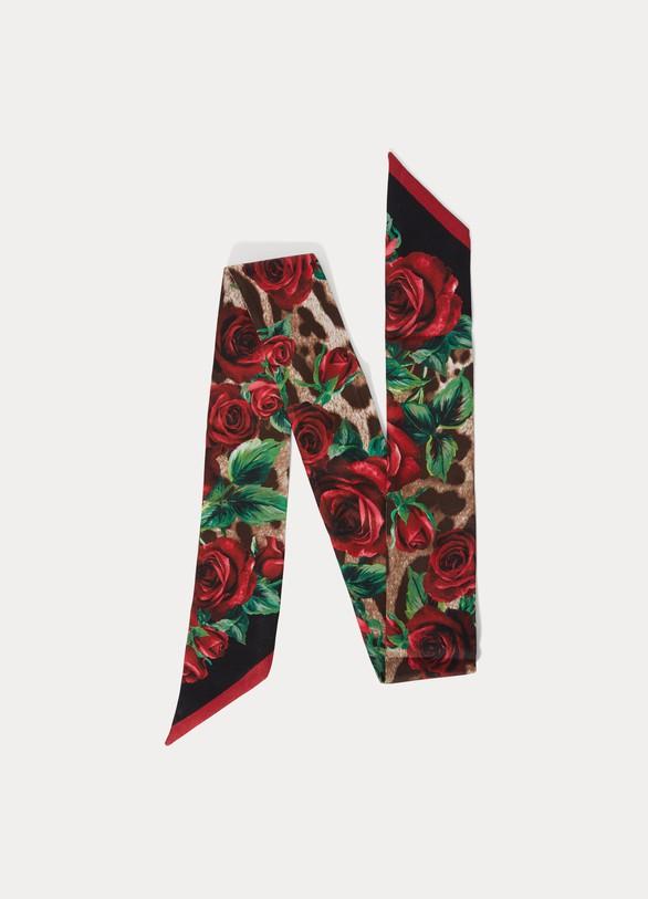 Dolce & GabbanaNœud de cou en soie Roses