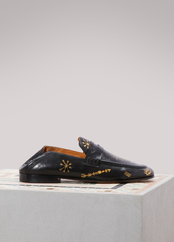 Isabel MarantFanzel collapsible-heel leather loafers