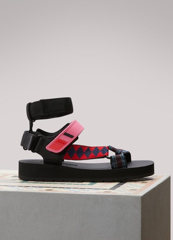 PradaMulti-strap flat sandals