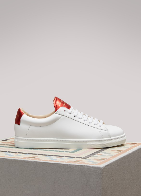 ZespaNappa Sneakers With Metallic Detail