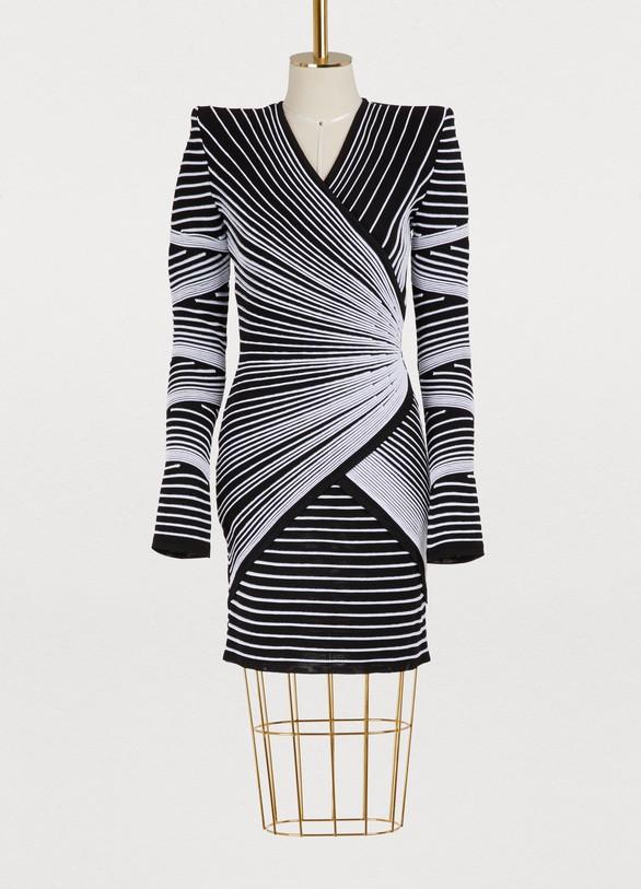 BalmainKnitted mini dress
