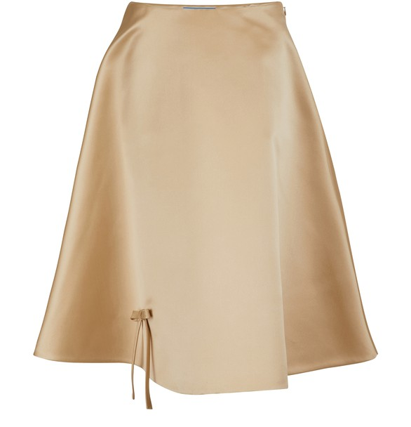 Silk Midi Skirt by Prada