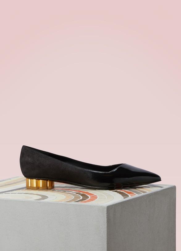 Salvatore FerragamoBari Leather Ballerina Flats