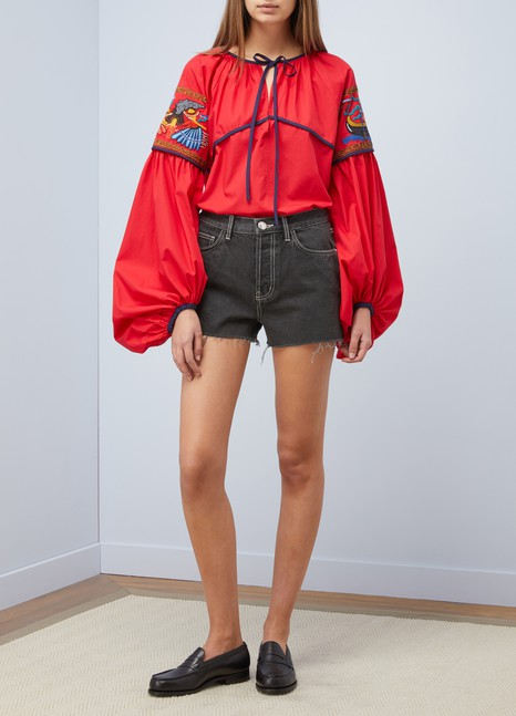 CURRENT ELLIOTTShort en jean taille ultra haute
