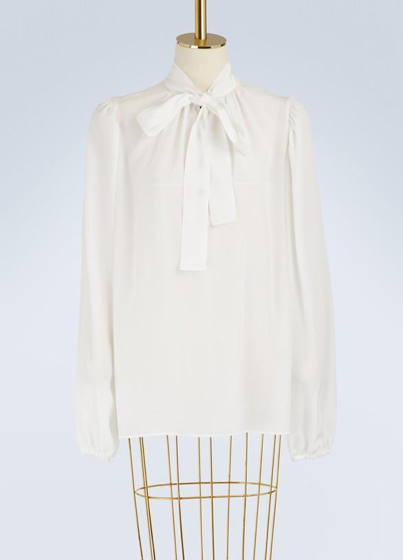 Dolce & GabbanaSilk logo shirt