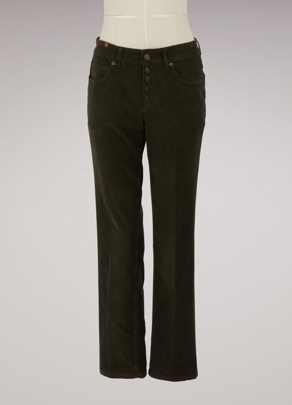 Atelier NotifyVelvet cropped Aloha jeans