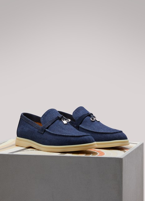 Loro Piana Mocassins en denim Summer Charm