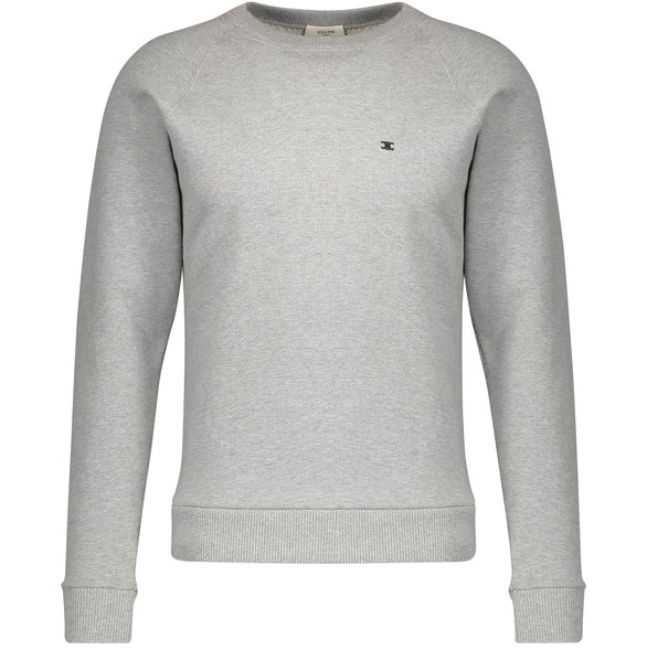CELINE Classic round-neck sweatshirt in fleece