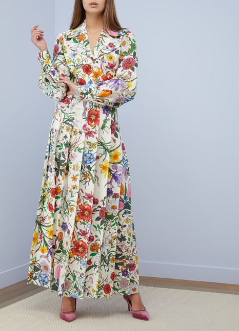 Gucci Flora linen dress