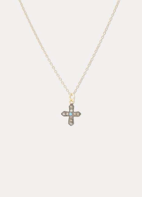 5 OCTOBREMini Cross necklace