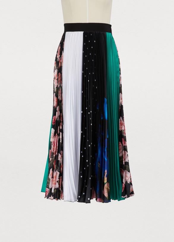 MSGMLong pleated skirt