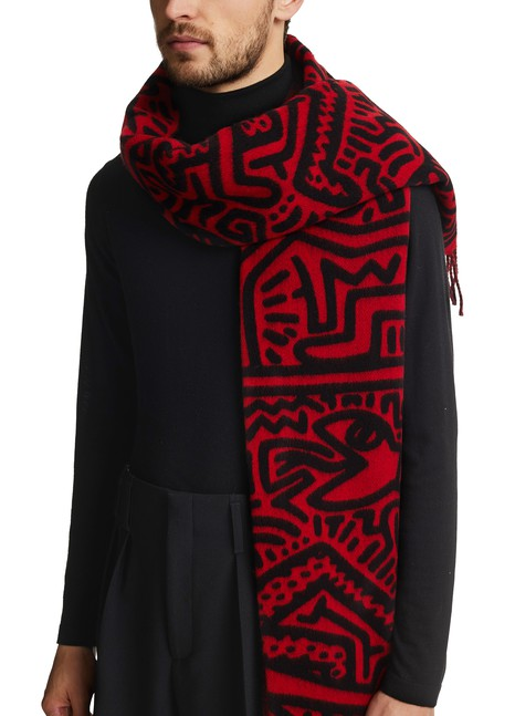 ETUDES Magnolua over Keith Haring scarf