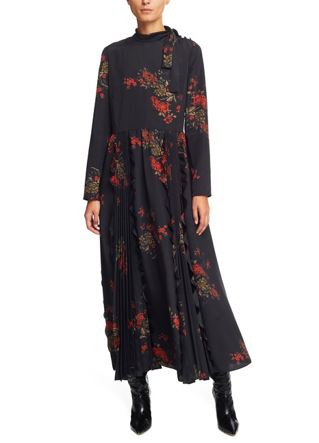 RED VALENTINOFlower Print long dress