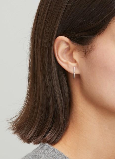 OFEEMono boucle d'oreille Brindilles 2 modules avec diamants