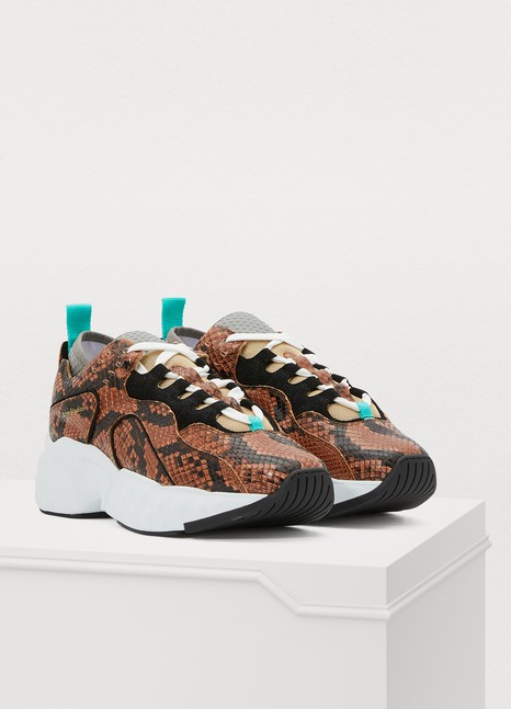 ACNE STUDIOSManhattan faux snake sneakers