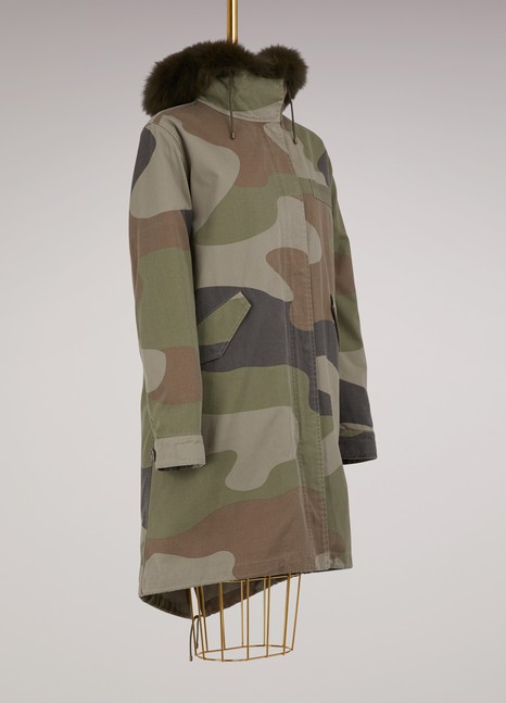 Yves Salomon - Army Oversize camouflage parka with coyote