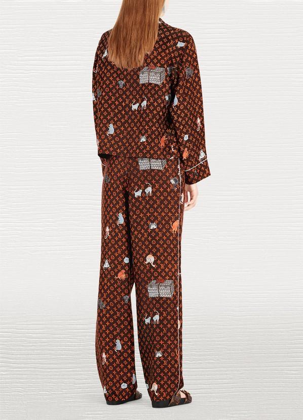sneakers for cheap 0a005 e4222 Catogram Motif Printed Pyjama Top Damen   Louis Vuitton   24S