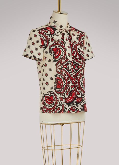 Red ValentinoChemise en soie imprimé bandana