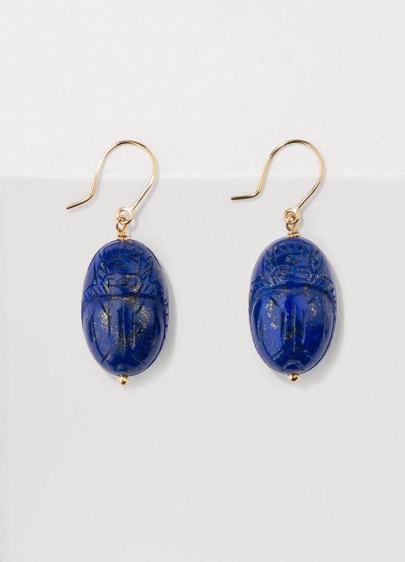 Aurélie BidermannLapis lazuli earrings