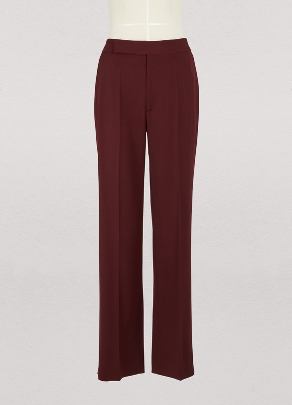 Celine Straight trousers in light wool gabardine