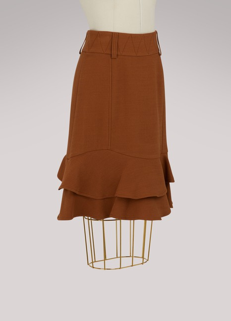 See by ChloéWool ruffle skirt