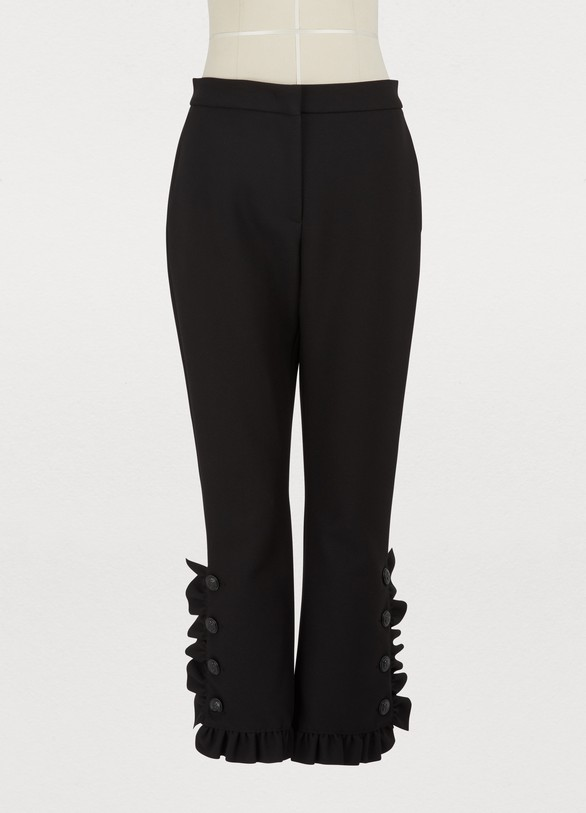 MSGM Ruffled wool pants