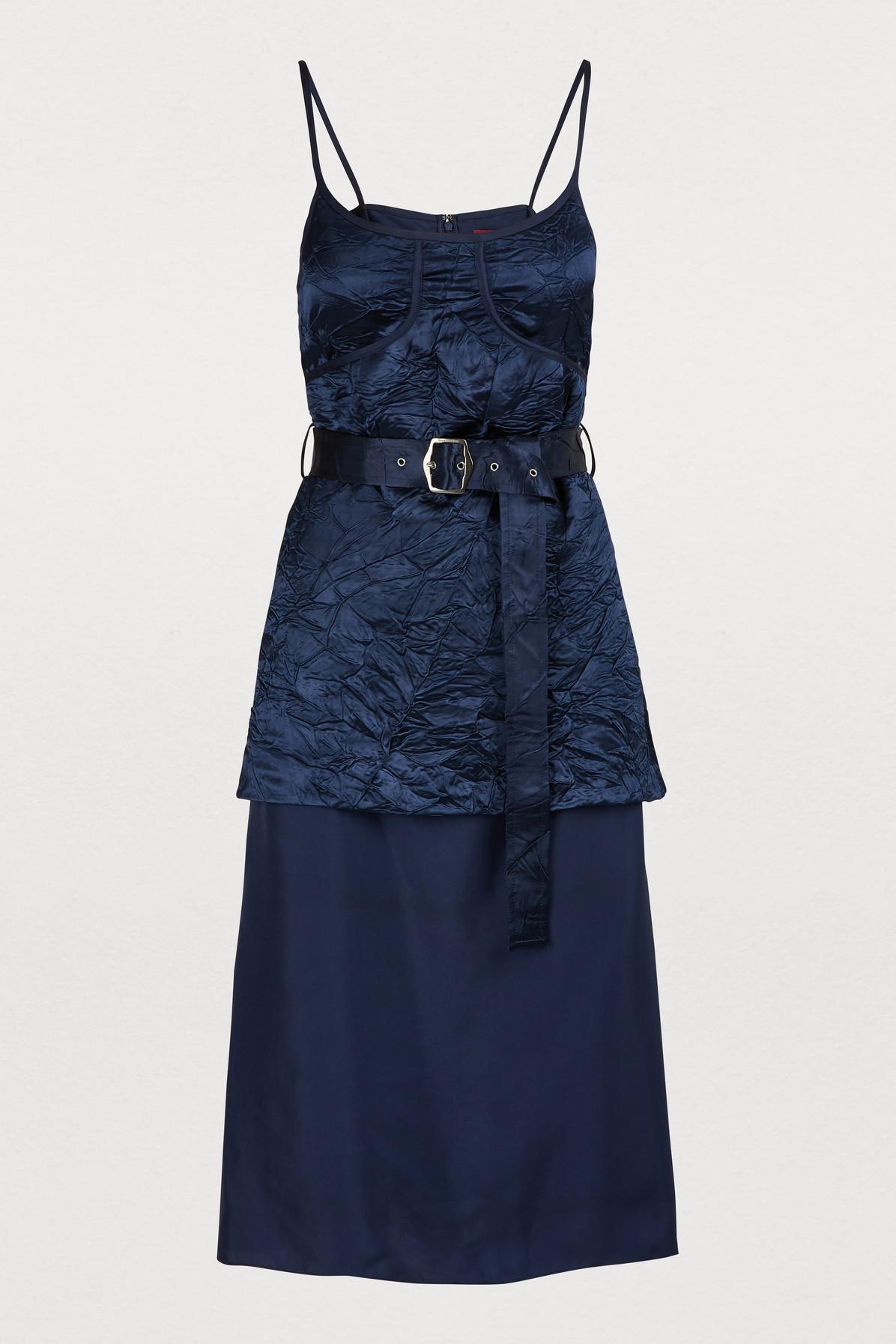 SIES MARJAN | Josie Satin Dress | Goxip