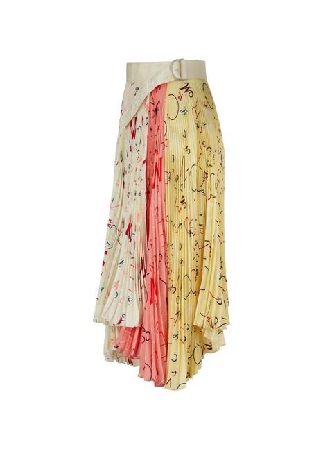 MONCLER GENIUS2 Moncler 1952 - silk midi skirt