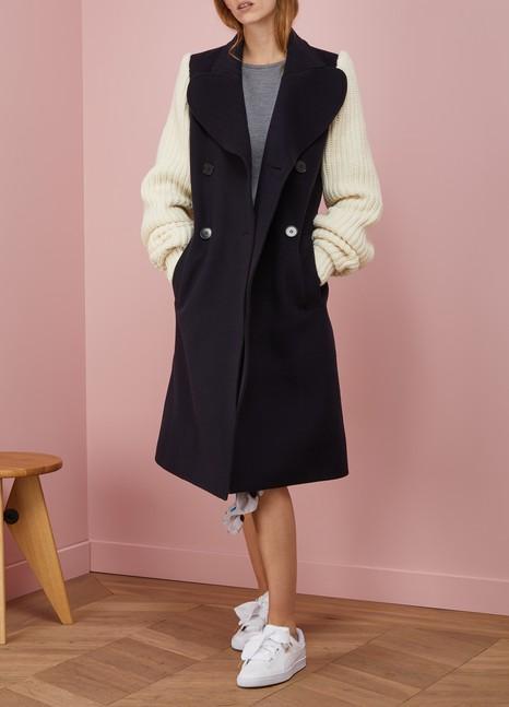 JW AndersonKnit-Sleeved Wool Coat