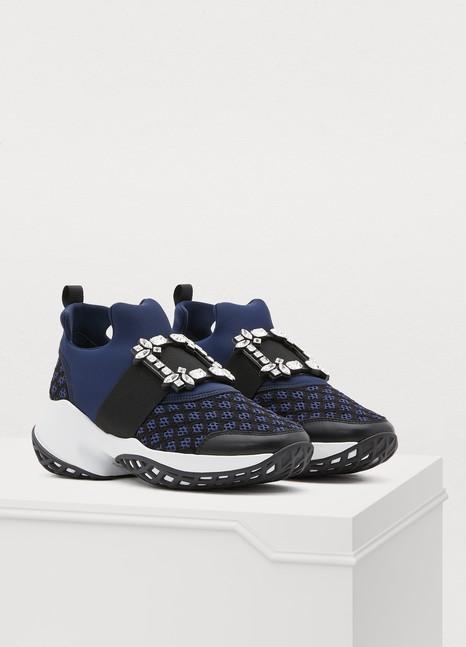 ROGER VIVIERViv 'Run sneakers with rhinestone buckle