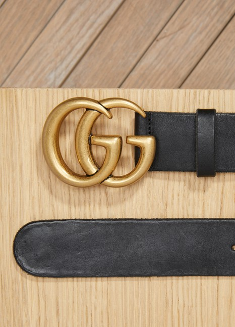 GUCCICeinture en cuir avec boucle double G