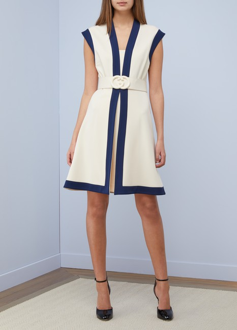Gucci Viscose jersey dress with GG belt