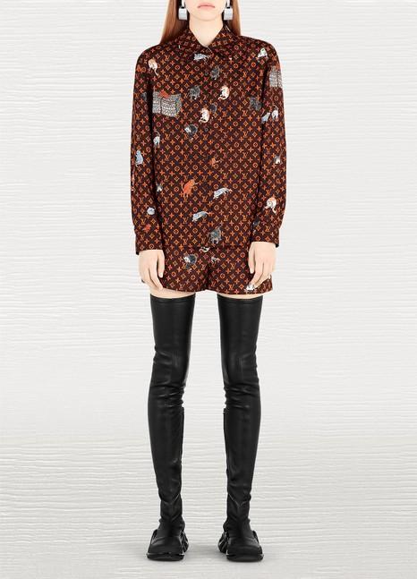 Louis VuittonChemise à manches courtes imprimée Catogram