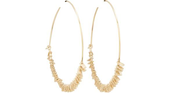 5 OCTOBREMy Large silver gilt earrings