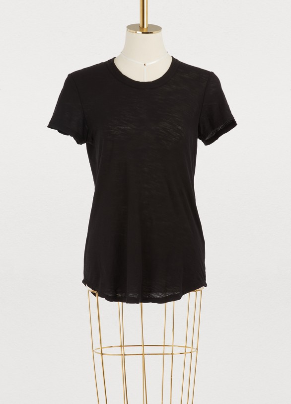 James Perse T-shirt Sheer Slub Crew Neck