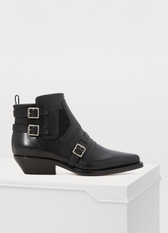 Women s Diorsaddle calfskin ankle boots  d83f36c792