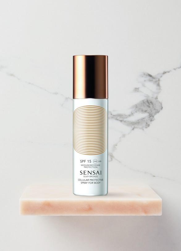 SensaiSilky Bronze Spray Solaire Protection Cellulaire Corps SPF 15