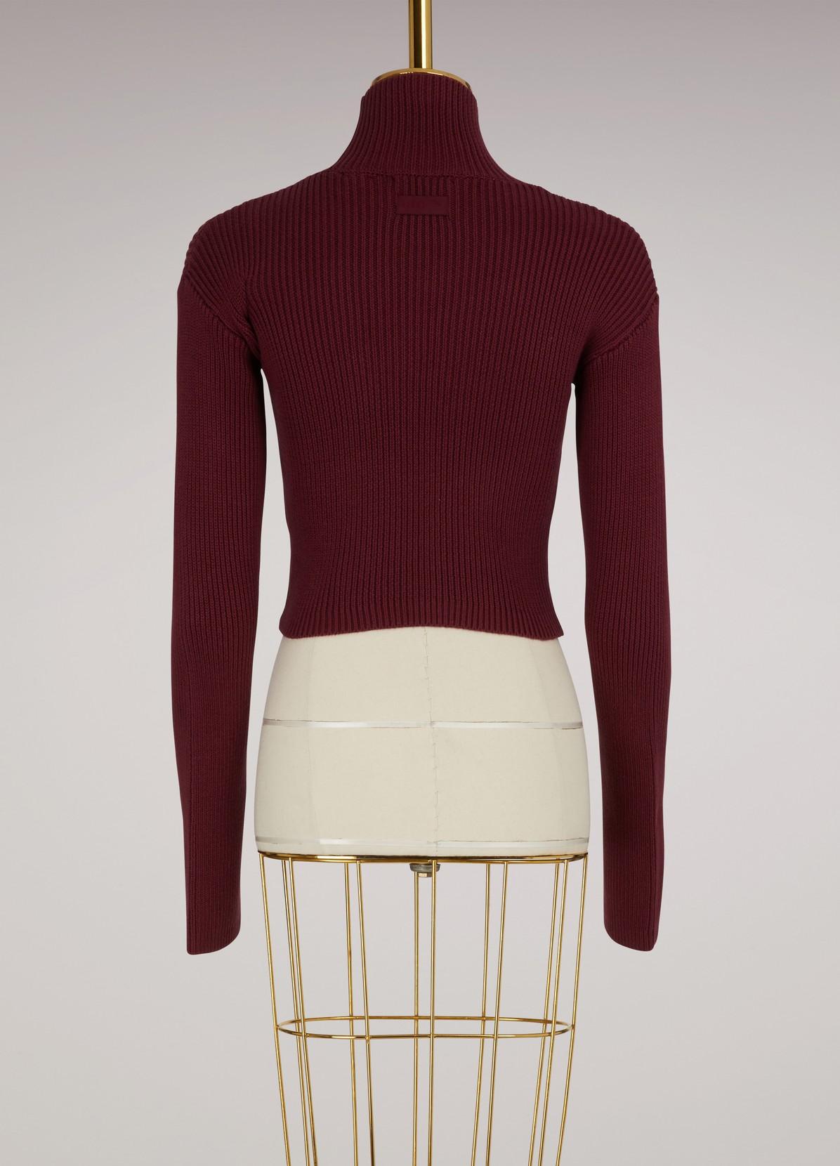 Long sleeve loose turtleneck sweater   FENTY PUMA BY RIHANNA   24 ...