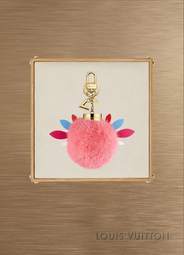 Louis VuittonBijou de sac et porte-clés en fourrure Lovely Birds