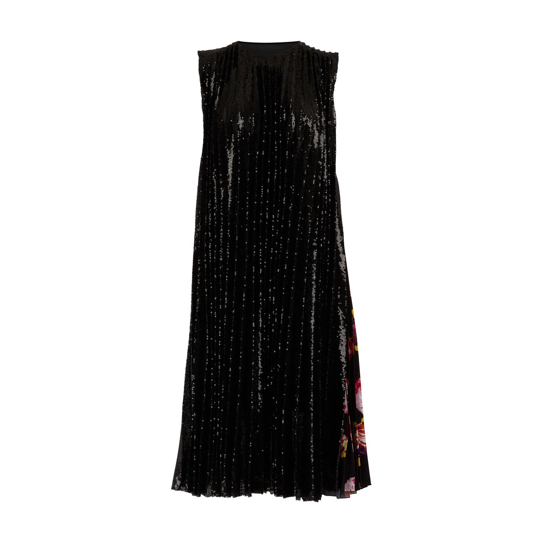 Robe à pailletes avec détail foulard