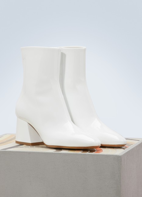 Maison MargielaPatent leather ankle boots