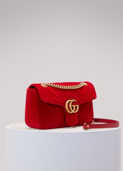 GUCCISac porté épaule GG Marmont en velours