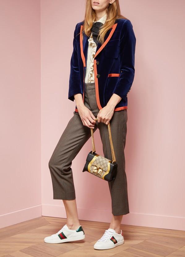 2e3357e3a36 ... Gucci Padlock GG Supreme Canvas and Leather Shoulder Bag ...