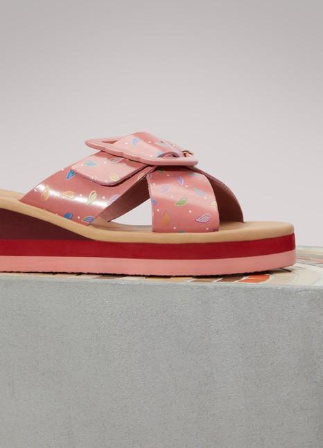 Sandales compensées RainbowAncient Greek Sandals AM37M