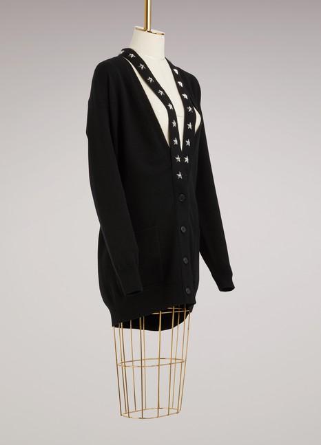 GivenchyCardigan oversize étoilé